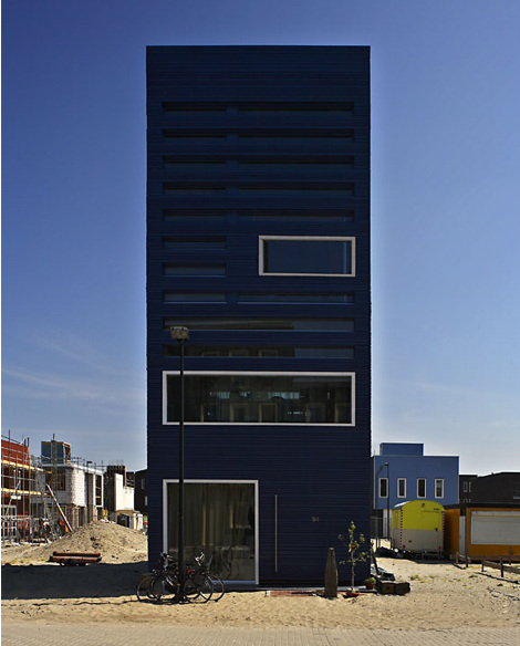 Дом в Амстердаме (Woonhuis Steigereiland) архитектора Питера Вейнена (Pieter Weijnen), бюро Faro