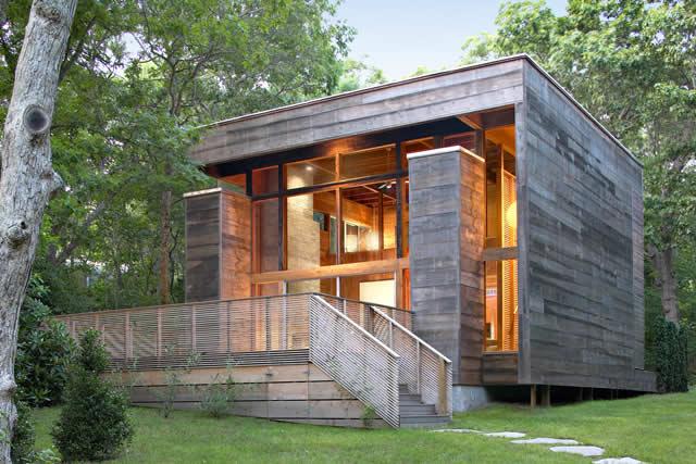 Реконструкция дома (Re-Cover House) в городе Amagansett, Bates Masi + Architects