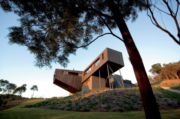Дом на мысе Schanck (Cape Schanck House) в Австралии, архитекторы  Jackson Clements Burrows