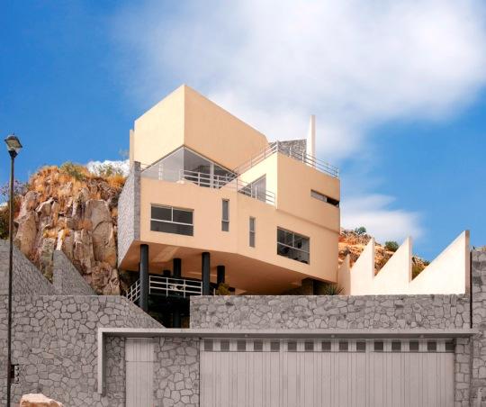 Дом Мартинеса Мондрагона (Casa Mart?nez Mondrag?n) в Мексике от AVM Arquitectura