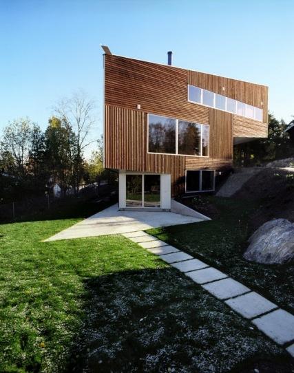 Дом-треугольник (Triangle House) в Норвегии от JVA