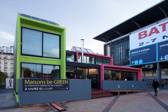 Зелёный дом (Les maisons Be-GREEN) в Париже от Architectures ? Vivre
