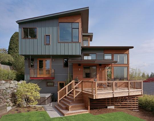 Зиппер Дом (Zipper House) в США от DeForest Architects