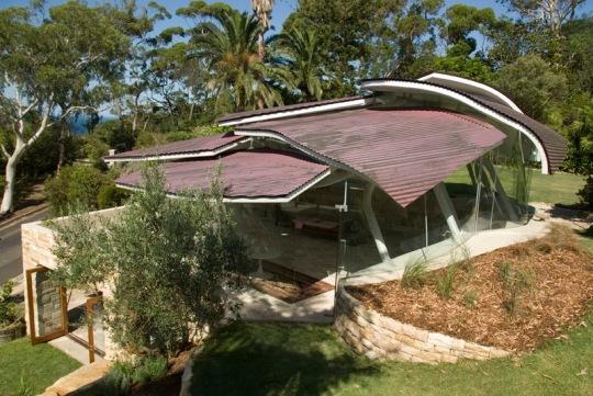 Дом листьев (Leaf House) в Австралии от Undercurrent Architects